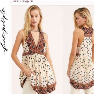 NWT Free People Charlotte Sleeveless Tunic Top